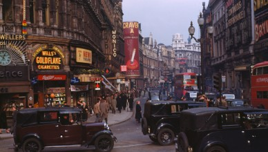 Shaftesbury Avenue 1949 - photo by Chalmers Butterfield